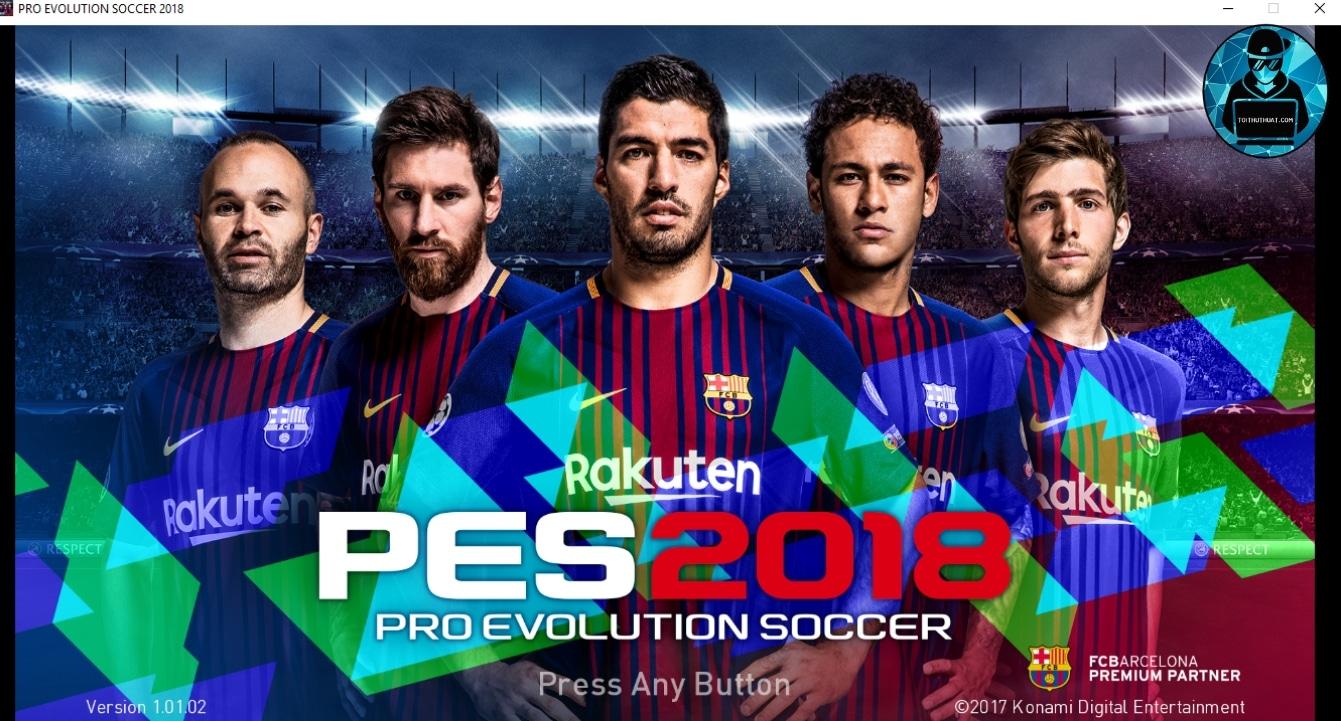 Game Pes 2018 full crack mới nhất