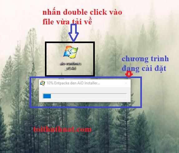 Click double vào file vừa download để tiến hành quá trình cài đặt phần mềm