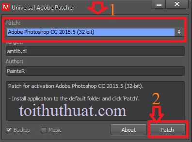 Click chọn đường dẫn photoshop cc 2015.5(32-bit)