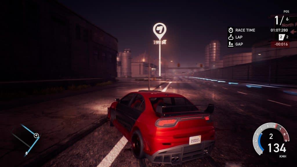 Hình ảnh trên dường đua vào ban đêm Super Street: The Game