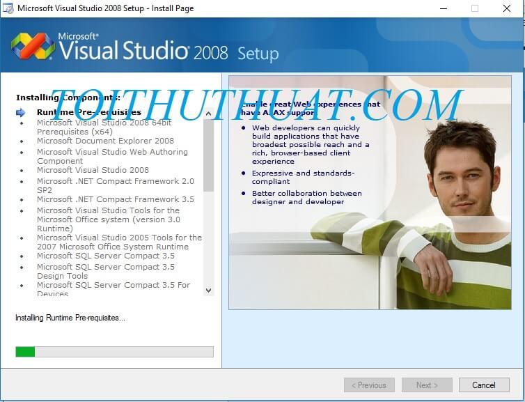 Phần mềm đang tiến hành cài đặt khi bạn nhấn chọn install.