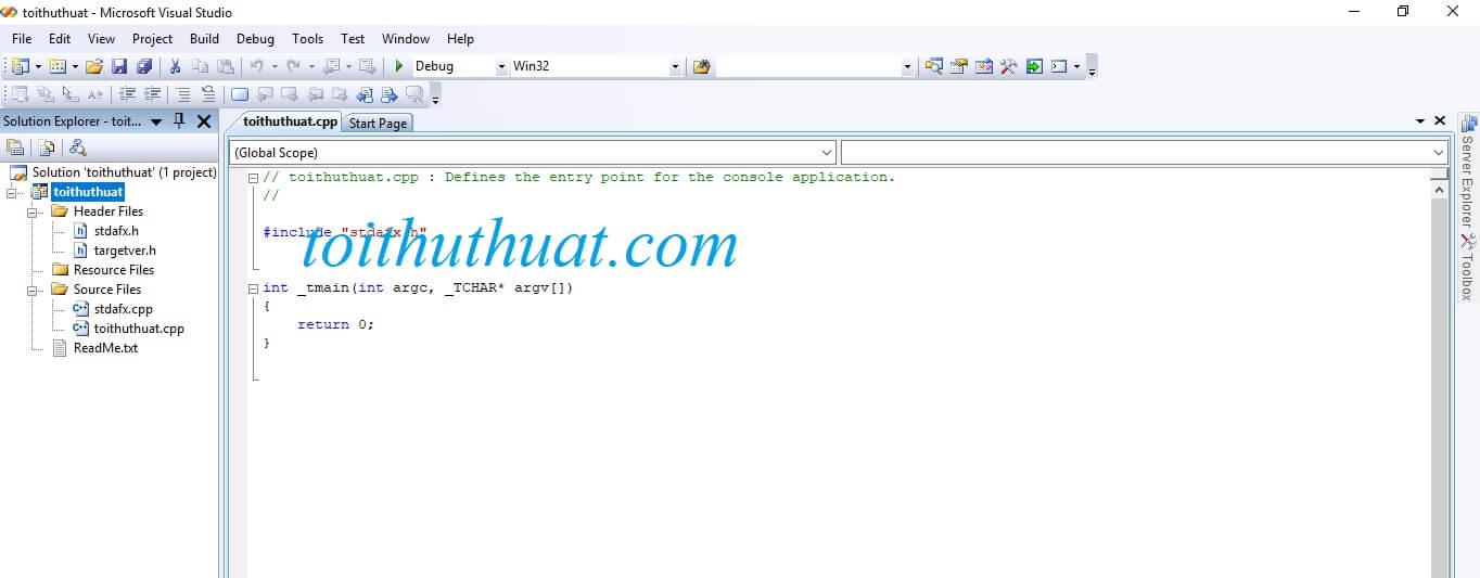 Nhá hàng giao diện lập trình trong visual studio 2008 professional