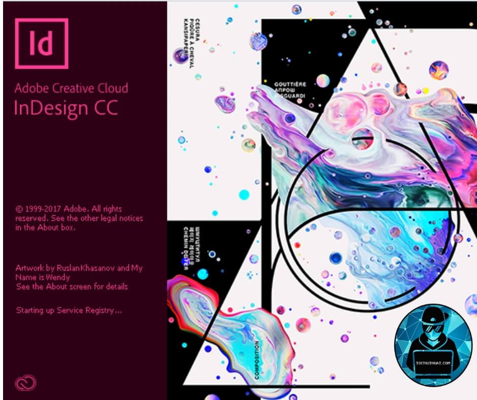 Giao diện khởi động phần mềm Adobe Indesign CC 2018