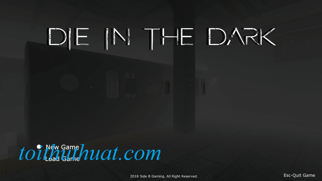Giao diện trong game Die In The Dark
