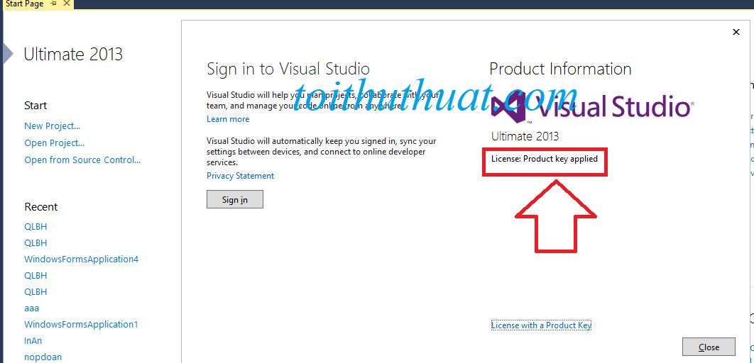 Sau khi add key thành công sẽ hiện ra dòng chữ như hình :v