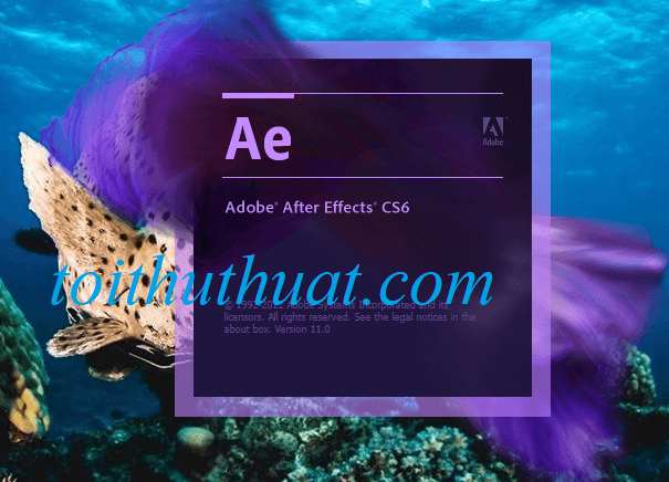Adobe After Effects CS6 FULL cho PC