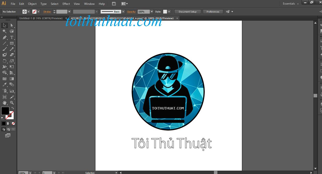 Giao diện thiết kế Adobe illustrator CS6