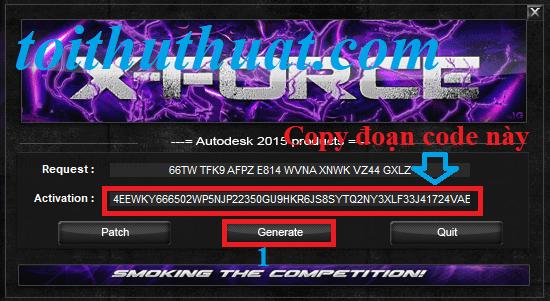 chọn vàoGenerate→sau đócopyđoạn code trong dòngActivation