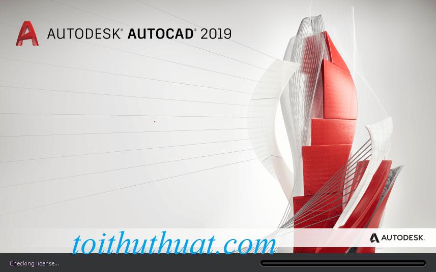 Tìm giao diện autocad 2019 mở lên