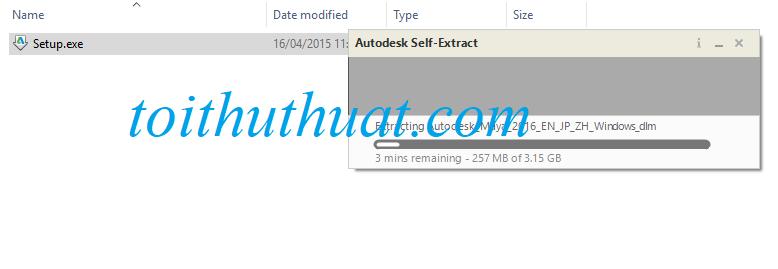 Kích hoạt file setup.exe để giao diện cài đặt autodesk hiện lên