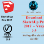 Download SketchUp Pro 2017 full crack + Plugin V-ray 3.4 full crack