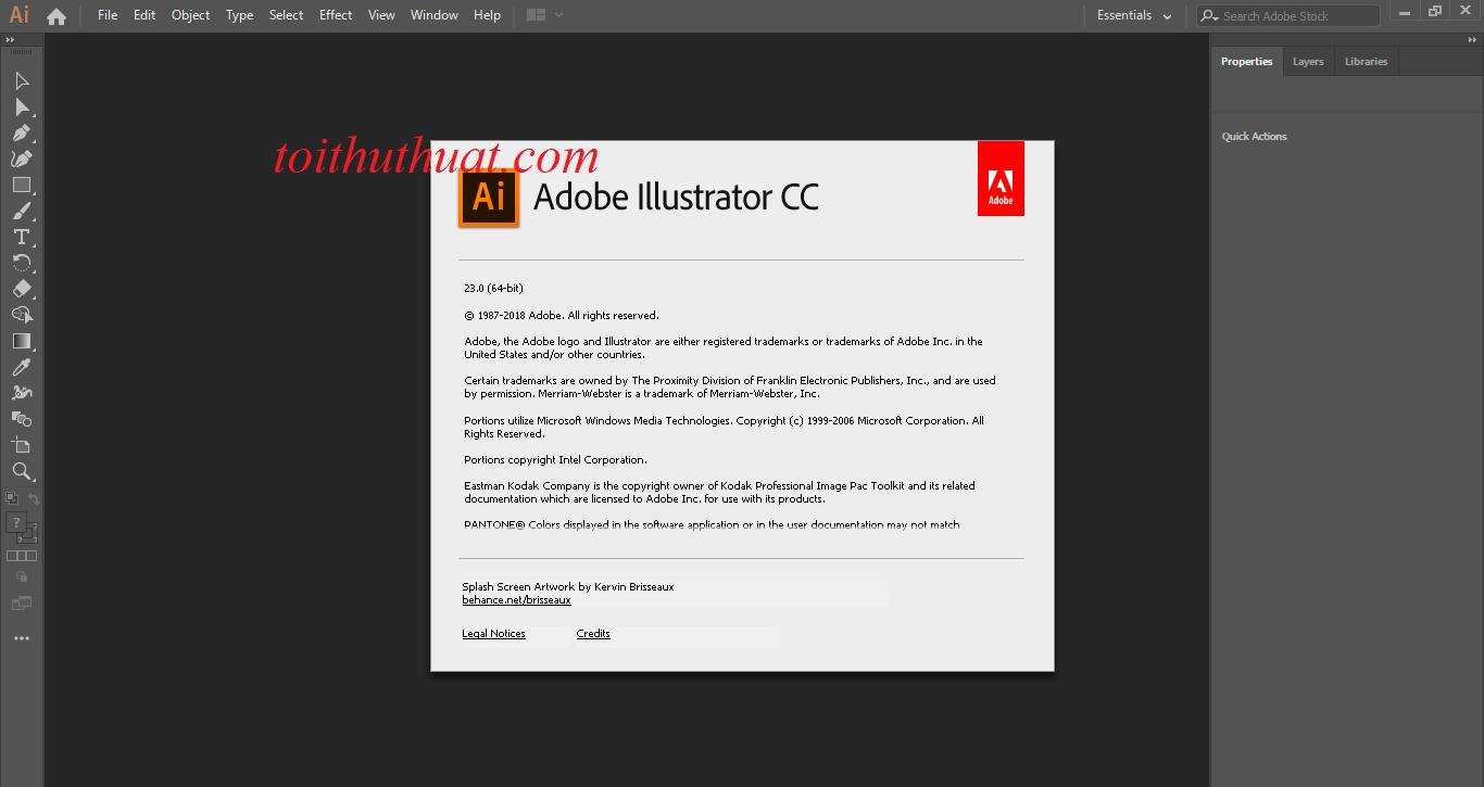 Phần mềm Adobe illustrator cc 2019 đã được crack thành công