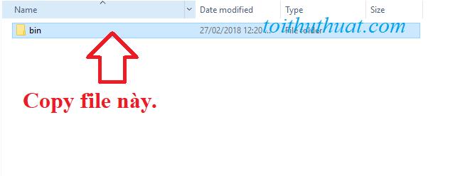 """Vào File Crack, sau đó copy tất cả file trong thư mục """"Bin"""""""