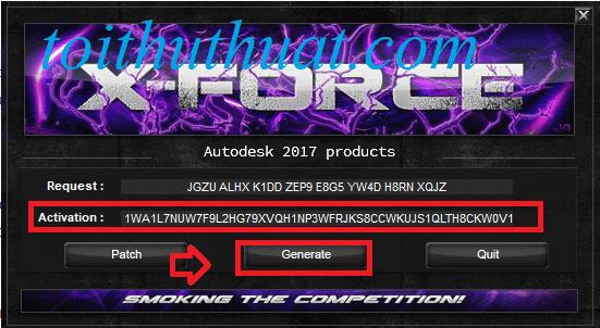 Bạnchọn vào Generate→ Sau đó COPYđoạn code trong dòngActivation.