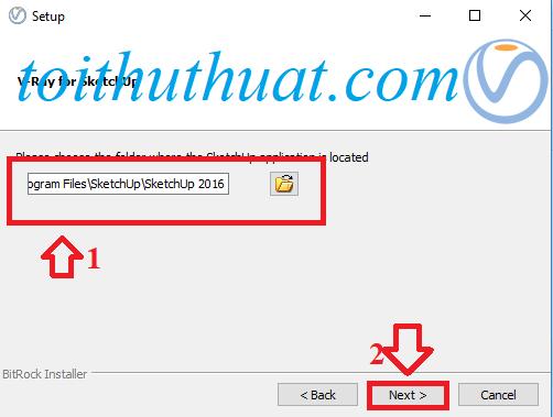 Sau đó bạn cần chọn nơi lưu→ Next→ Next→ Đợi hệ thống cài vray 2.0