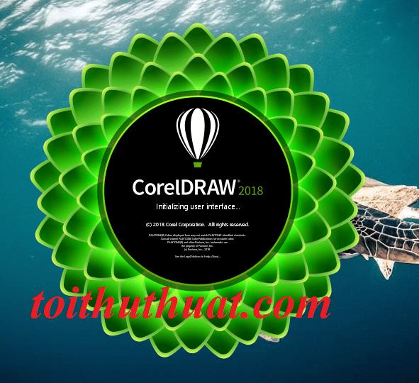Giao diện chờ khi bạn khởi động phần mềm CorelDRAW Graphics Suite 2018