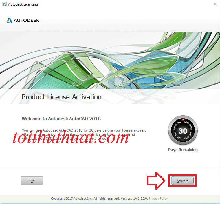 Chọn Activate