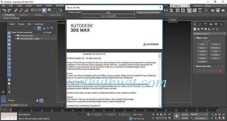 Autodesk 3ds max 2019 đã được admin crack thành công rồi