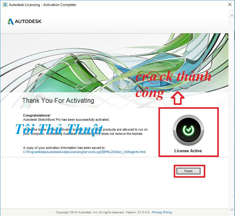 Activate SketchBook Pro 2020 thành công rồi đó mọi người