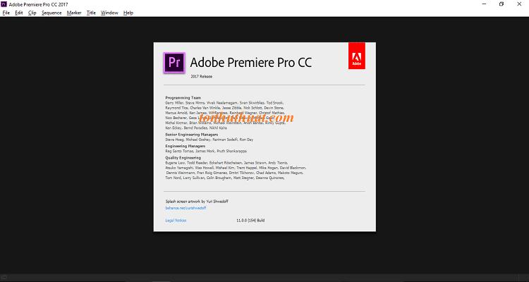Cách kiểm tra: Help → About Adobe Premiere Pro...