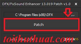 Chọn Patch để cr@ck FxSound Enhancer 13