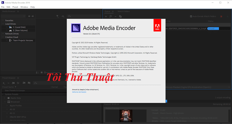 Download và activate Adobe Media Encoder CC 2019 rất đơn giản