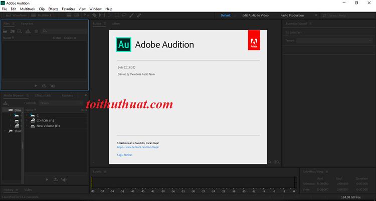 Activate Adobe Audition CC 2019 chưa bao giờ đơn giản đến thế