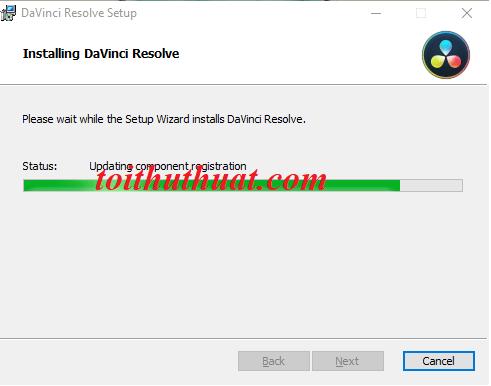Ngồi đợi hệ thống cài đặt phần mềm thôi