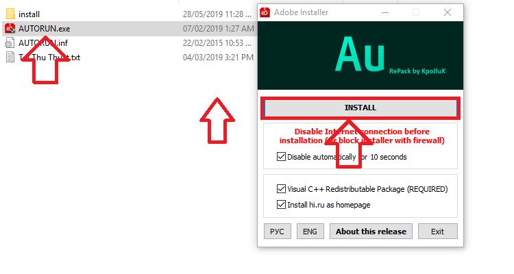 Click file Autorun.exe để bắt đầu cài đặt