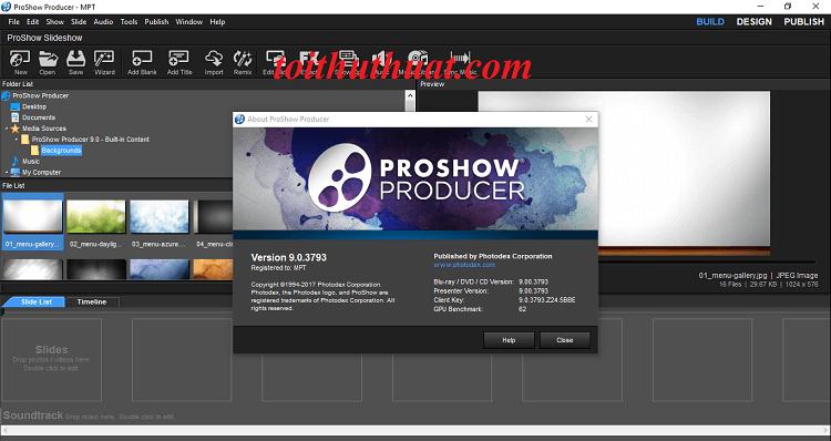 Các bước Activate ProShow Producer 9 rất chi là đơn giản