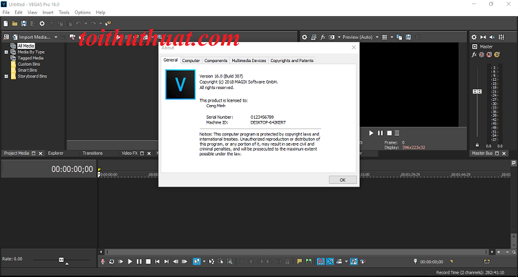 Download) Tải Sony Vegas Pro 16 Full Activate + Hướng dẫn