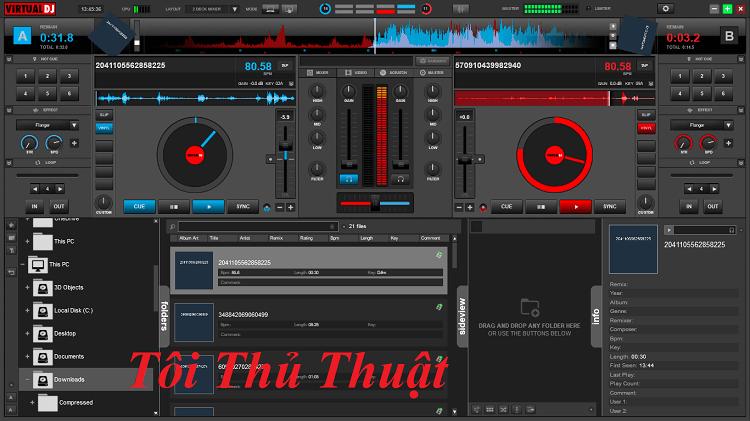 Giao diện khi đang chỉnh sửa, mix lại nhạc