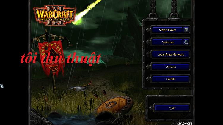 Đây là giao diện phiên bản Warcraft III FrozenThrone 1.29