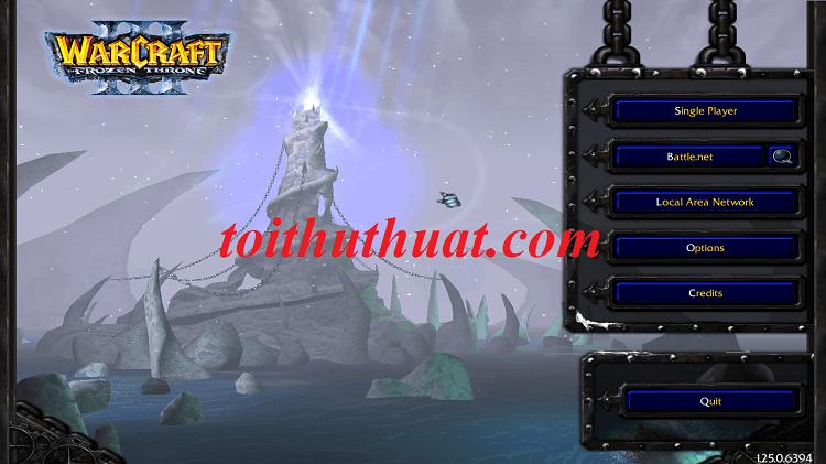 Còn đây là giao diện của bản Đây là giao diện phiên bản Warcraft III FrozenThrone 1.25