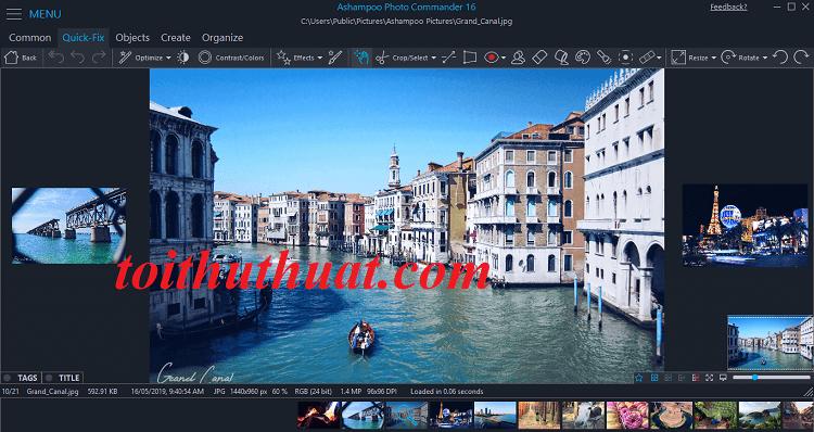 Một số hình ảnh có trong phần mềmAshampoo Photo Commander 16 khi đã crck thành công