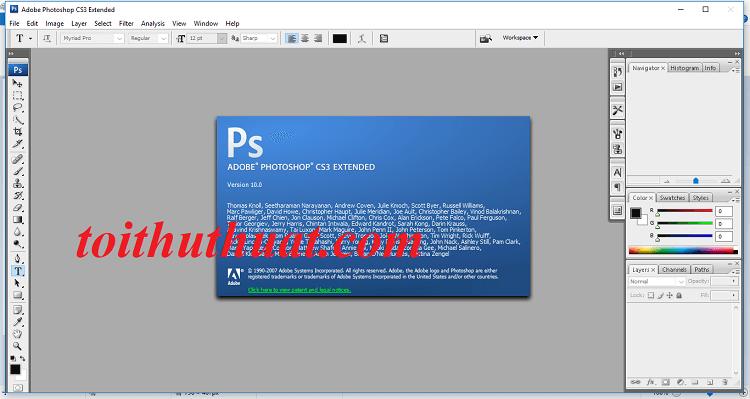 Tải và cài đặt Photoshop CS3 cực đơn giản