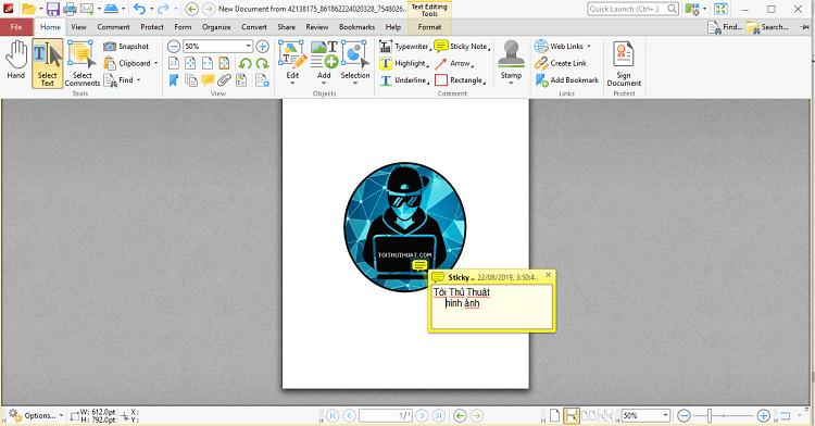 Admin đã chỉnh sửa hình ảnh bằng phần mềm PDF-XChange Editor Plus 8