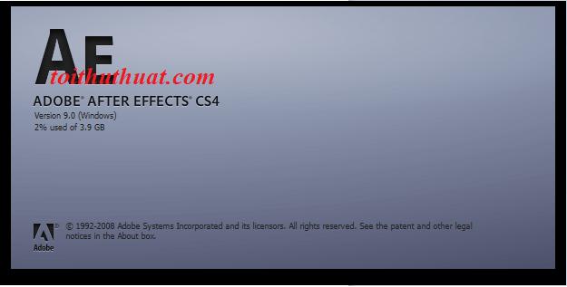 Cấu hình yêu cầu After Effects CS4 cho máy tính