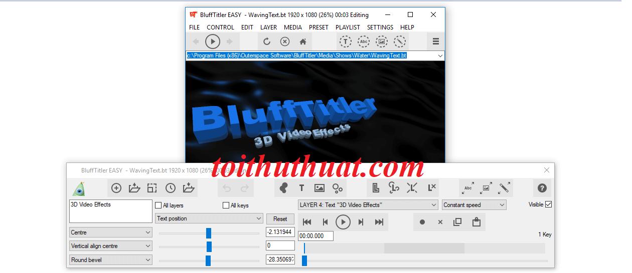 Giao diện phần mềm BluffTitler Ultimate 14.6.0.0, mọi người thấy thế nào