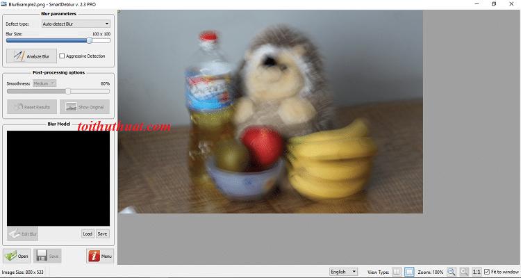 Mọi người tham khảo giao diện phần mềm SmartDeblur 2.3 bản Pro nhé