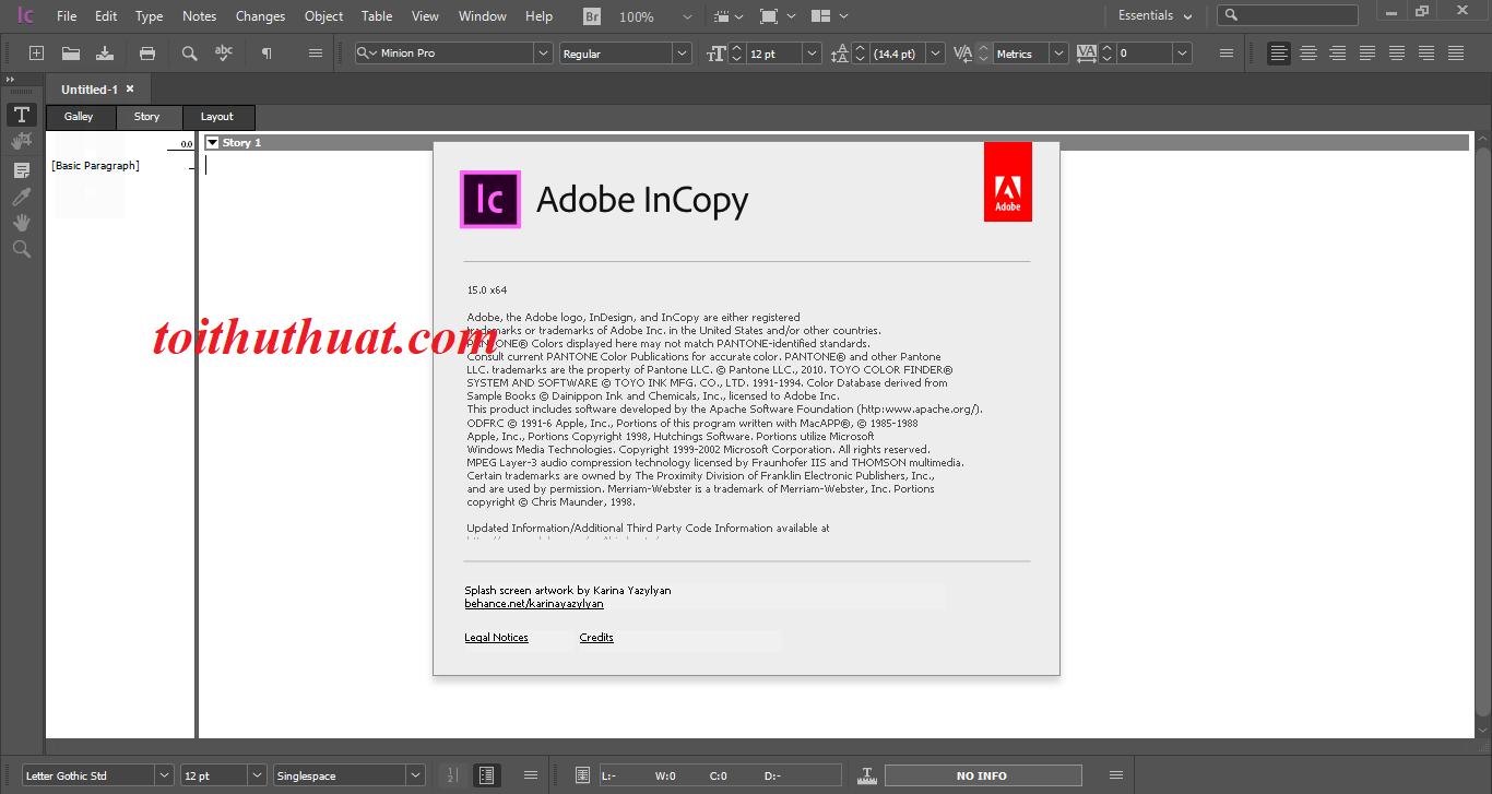 Hướng dẫn download incopy CC phiên bản mới nhất