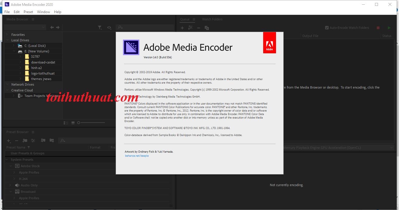 Tải Media Encoder CC 2020 Full về máy tính