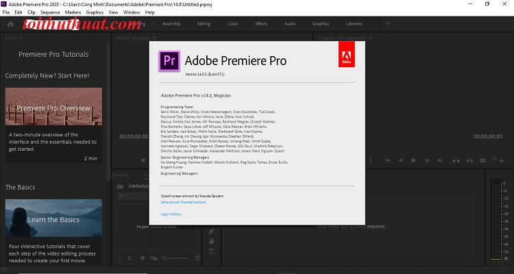 Hướng dẫn tải và cài đặt Premiere Pro CC 2020 chi tiết nhất