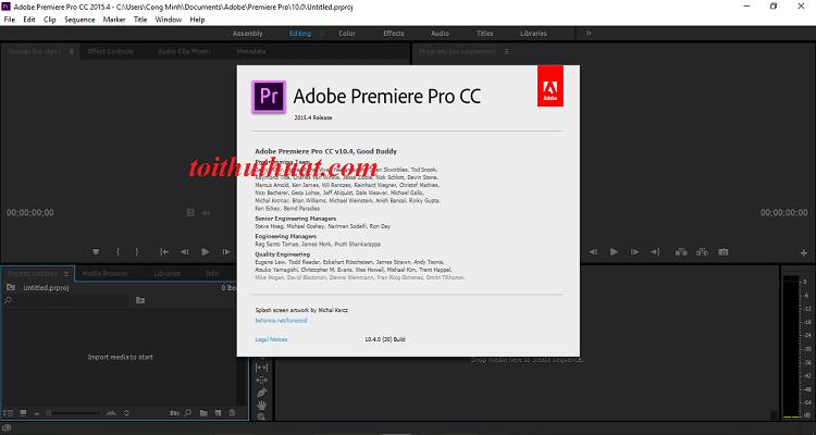 Tải ngay phiên bản Pr Pro CC 2015 về máy tính dùng thôi anh em ưi
