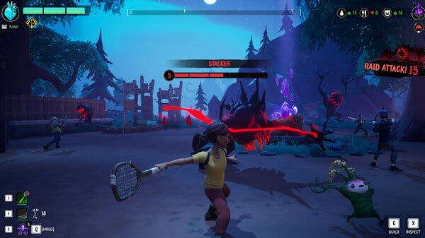 Vũ khí hỗ trợ anh em chiến đấu trong game Drake Hollow