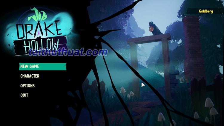 Giao diện chuẩn bị vào game trong Drake Hollow
