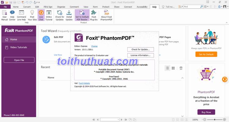 Xem hướng dẫn tải và cài đặt Foxit PhantomPDF Business 10