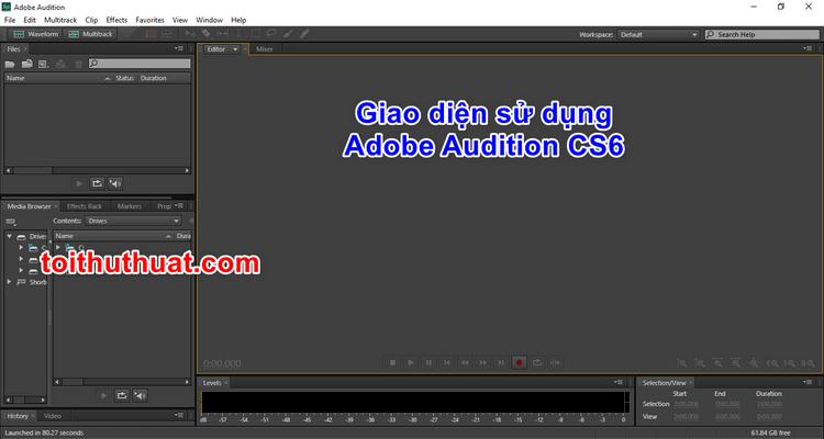 Hướng dẫn cài đặt Adobe Audition CS6 chi tiết