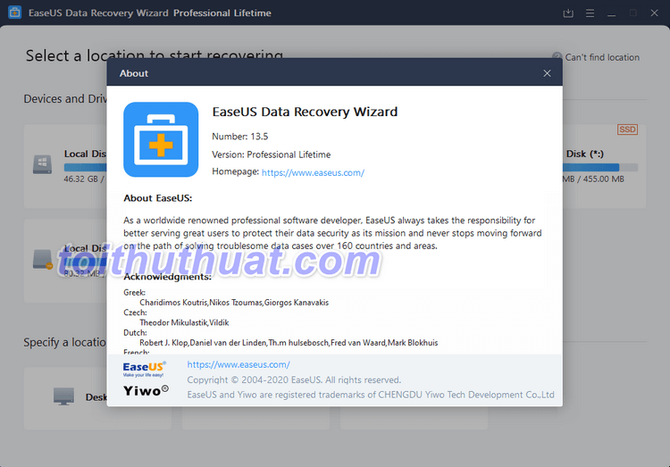 Hướng dẫn cài dặt & activate EaseUS Data Recovery Wizard Pro 13.5