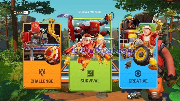 Game Scrap Mechanic SURVIVAL Online có nhiều chế độ chơi cho anh em lựa chọn